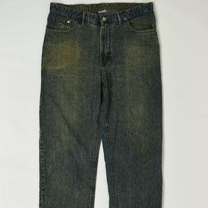 Lacoste Regular  Blue 38 x 29 Straight Cotton Soli